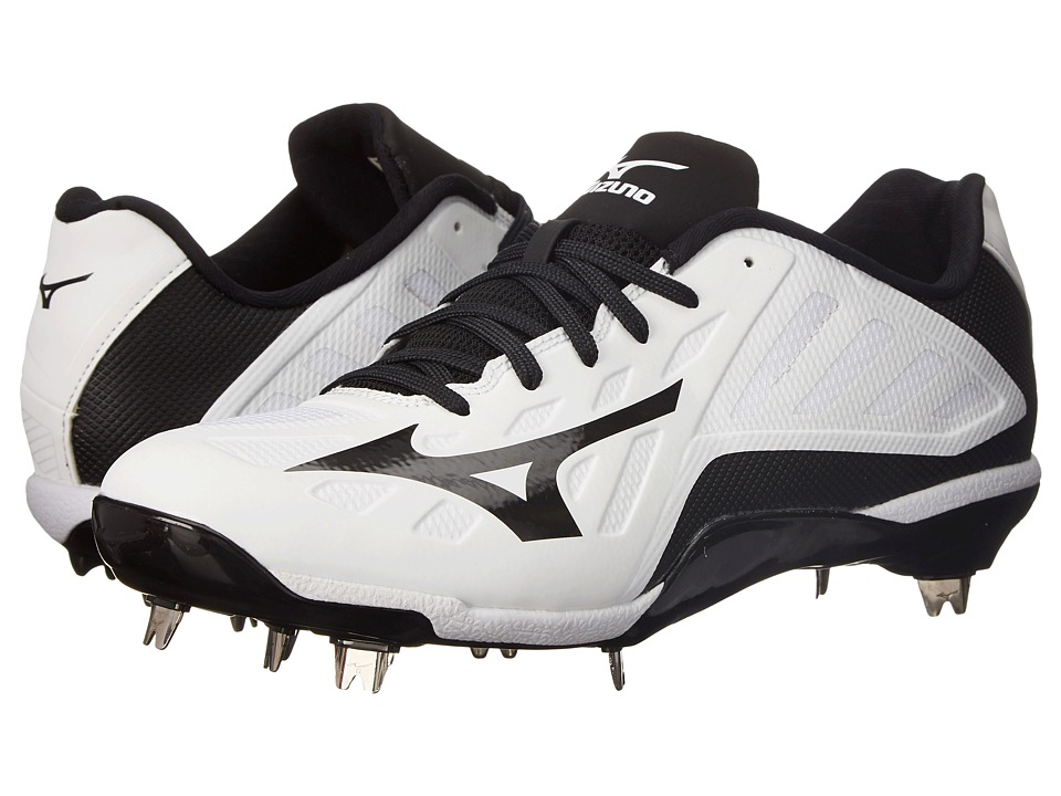 Mizuno - Heist IQ Low (White/Black) Men's Cleated Shoes