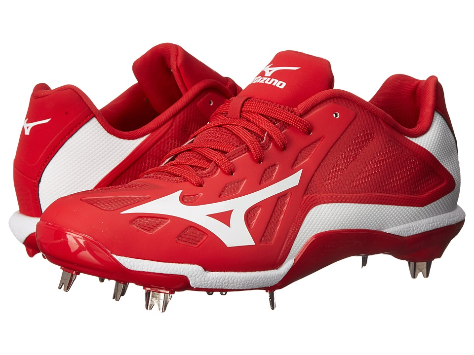 Mizuno - Heist IQ Low (Red/White) Men's Cleated Shoes