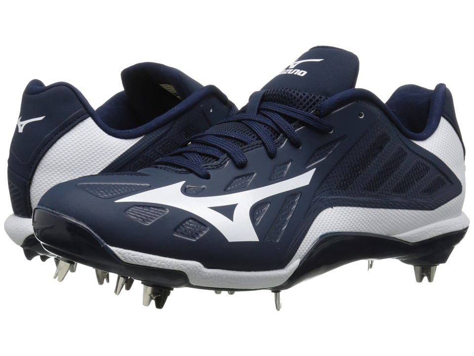 Mizuno - Heist IQ Low (Navy/White) Men's Cleated Shoes