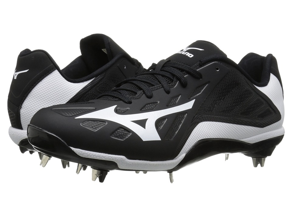 Mizuno - Heist IQ Low (Black/White) Men's Cleated Shoes