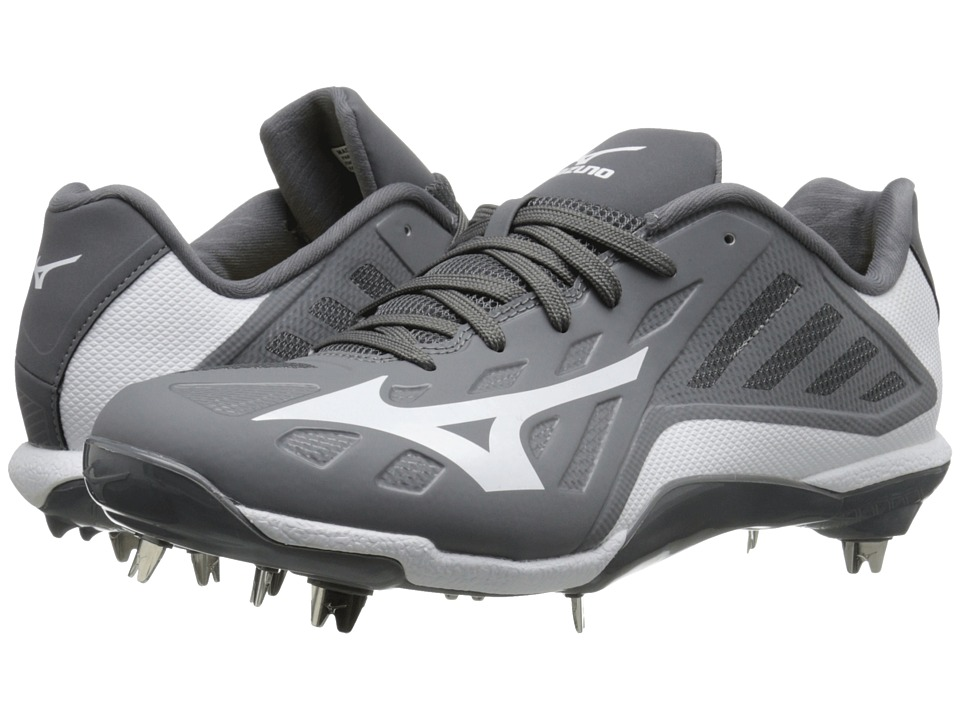 Mizuno - Heist IQ Low (Grey/White) Men's Cleated Shoes