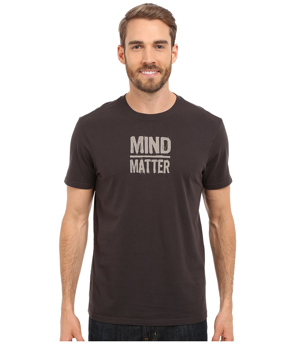 Prana - Mind/Matter T-Shirt (Charcoal) Men's Short Sleeve Pullover