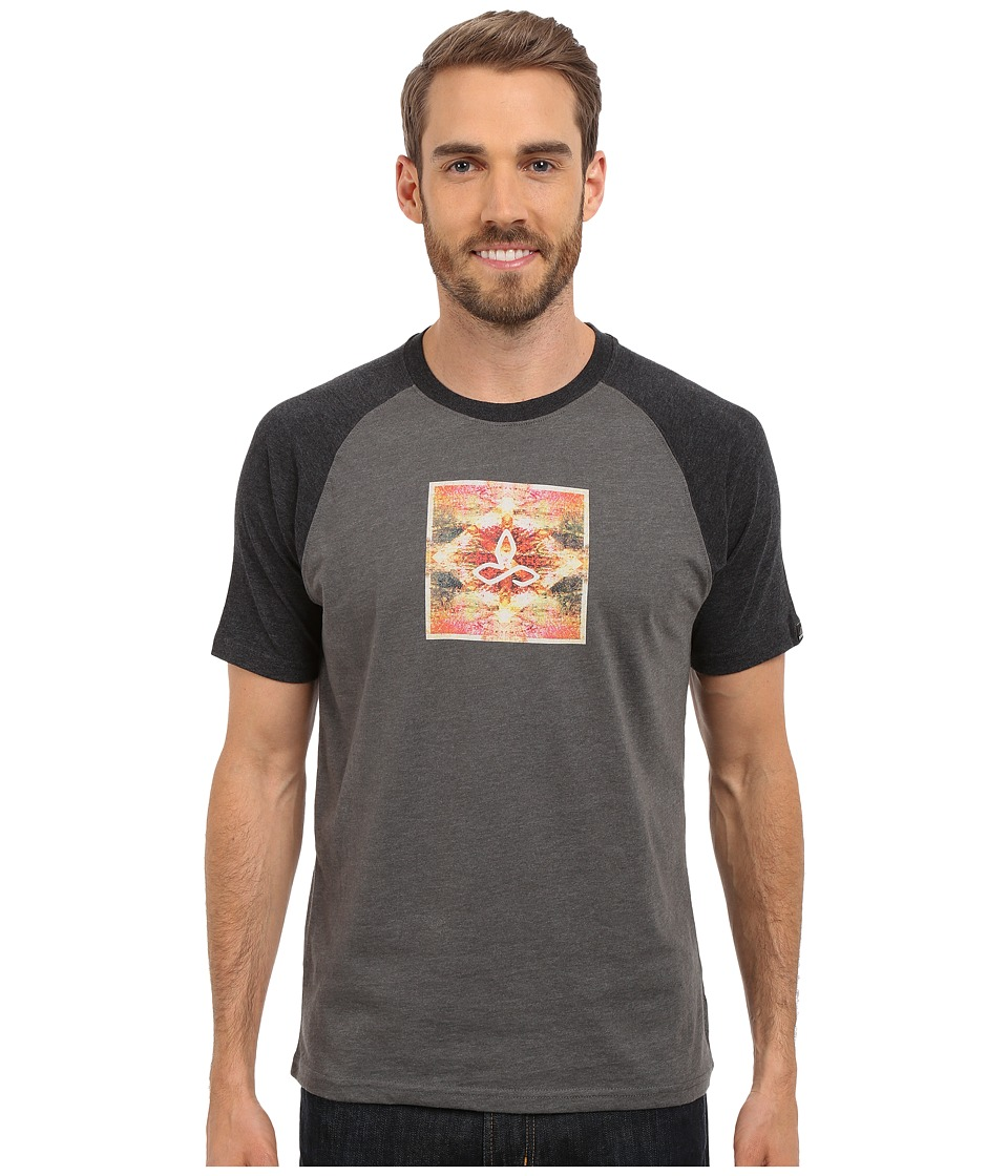 Prana - Red Rock Zen Raglan (Charcoal) Men's Short Sleeve Pullover