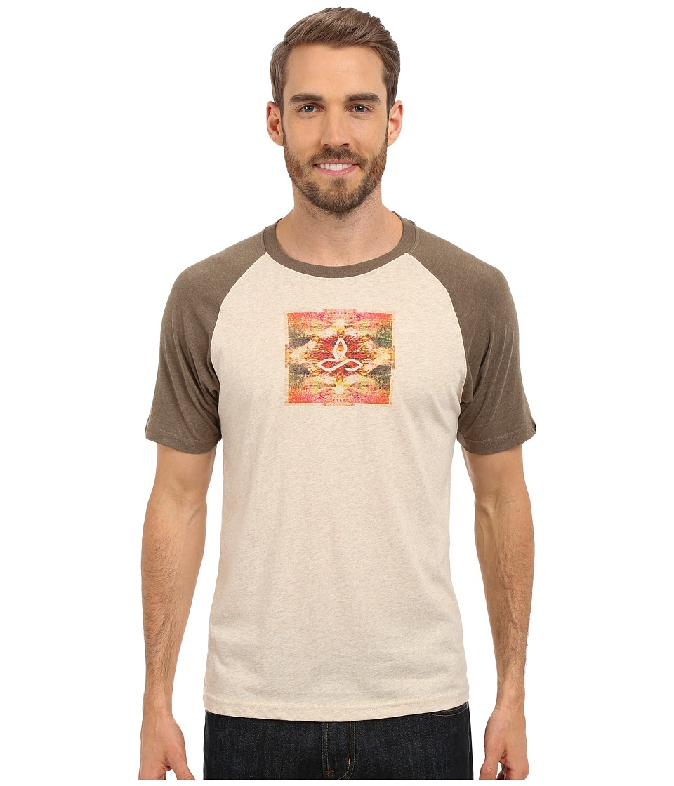 Prana - Red Rock Zen Raglan (Stone) Men's Short Sleeve Pullover