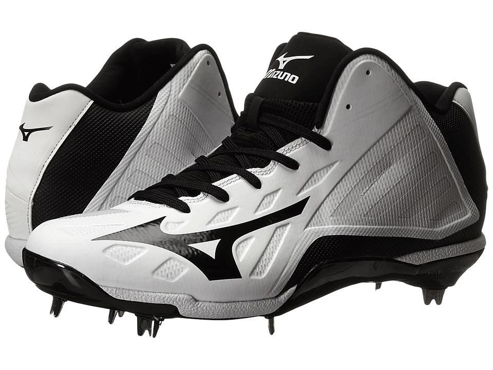 Mizuno Heist IQ Mid (White/Black) Men