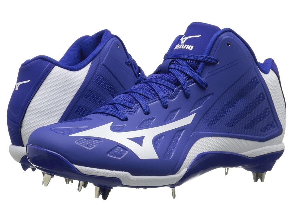 Mizuno - Heist IQ Mid (Royal/White) Men's Cleated Shoes