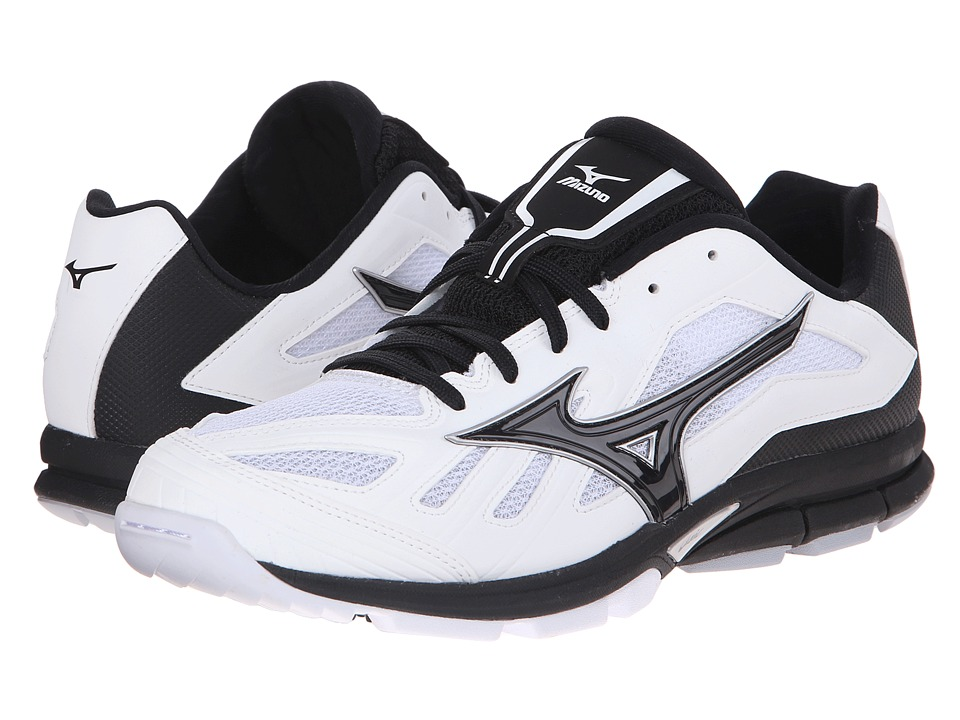 Mizuno - Players Trainer (White/Black) Men's Shoes