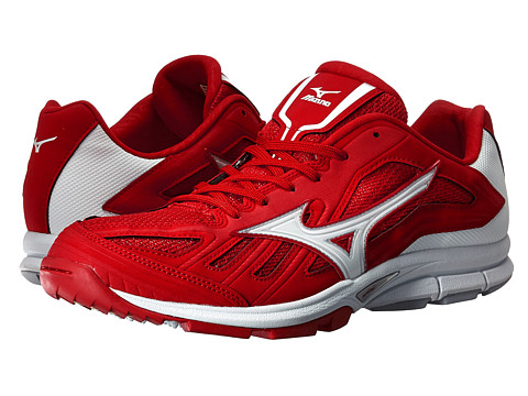 Mizuno - Players Trainer (Red/White) Men's Shoes