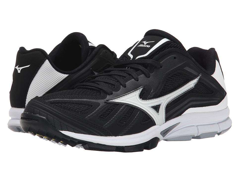 Mizuno - Players Trainer (Black/White) Men's Shoes