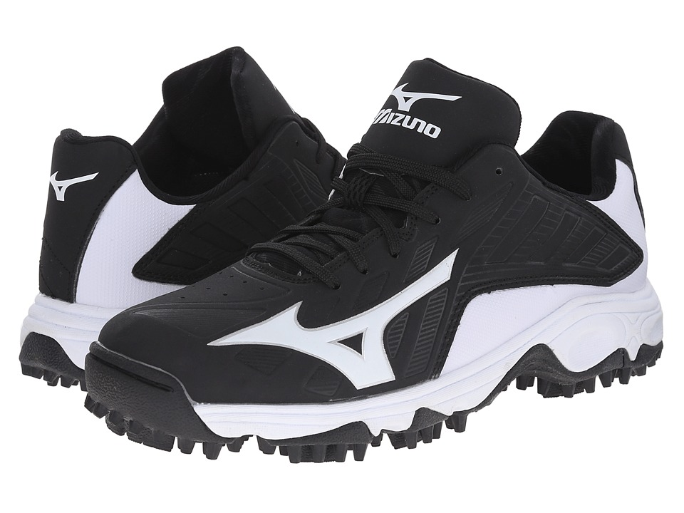 Mizuno - 9-Spike(r) Advanced Erupt 3 Low (Black/White) Men's Cleated Shoes