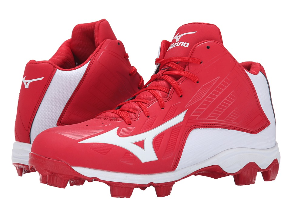 Mizuno - 9-Spike(r) Advanced Franchise 8 Mid (Red/White) Men's Cleated Shoes