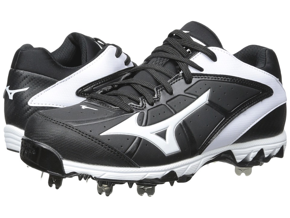Mizuno - 9-Spike(r) Swift 4 (Black/White) Women's Cleated Shoes