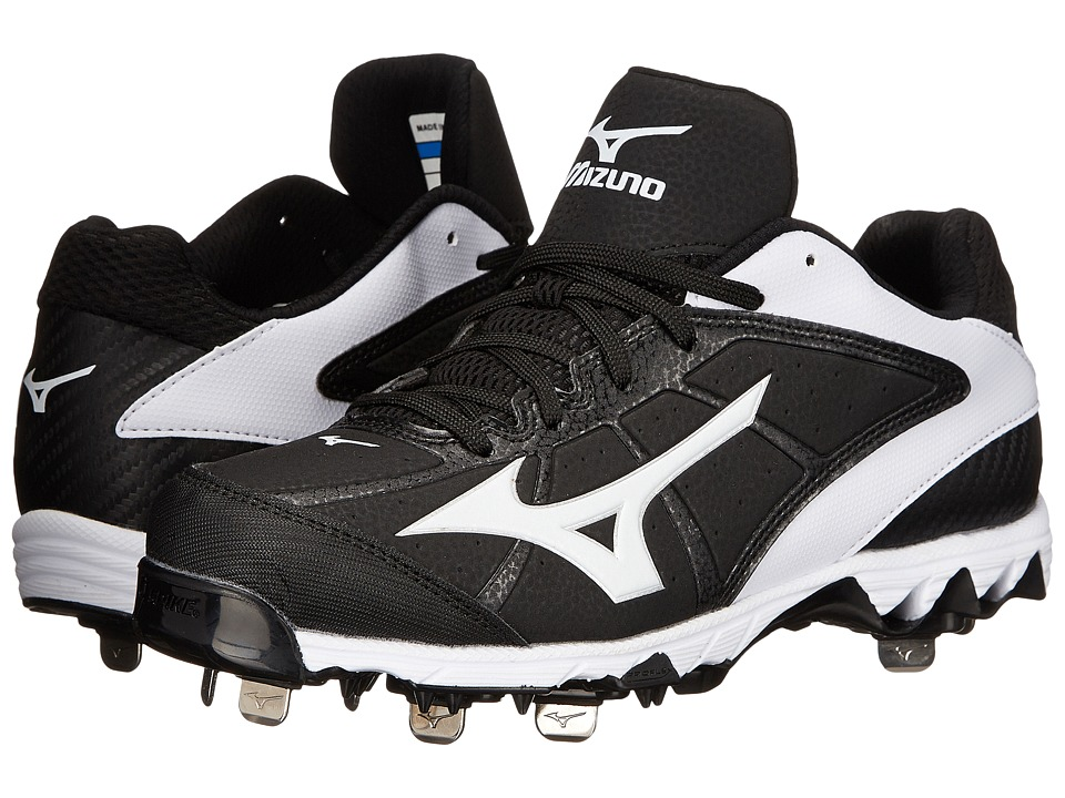 Mizuno - 9-Spike Select 2 (Black/White) Women's Cleated Shoes