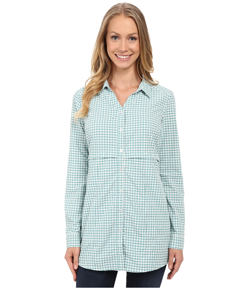 Toad&Co - Marvista Tunic (Dark Turquoise) Women's Long Sleeve Button Up