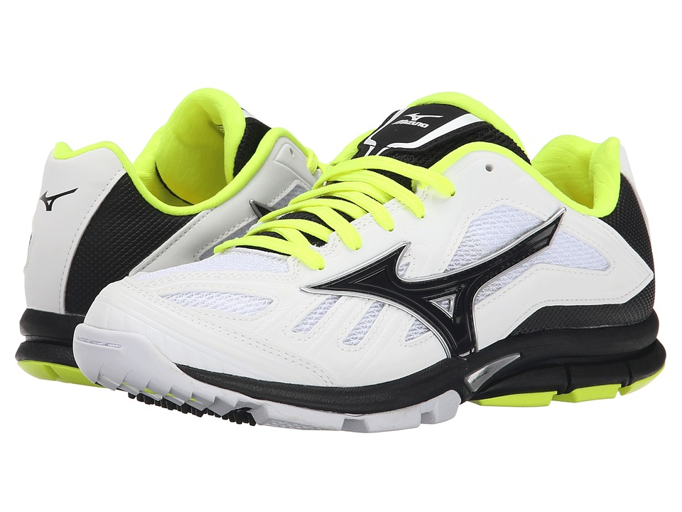 Mizuno - Players Trainer (White/Black) Women's Shoes