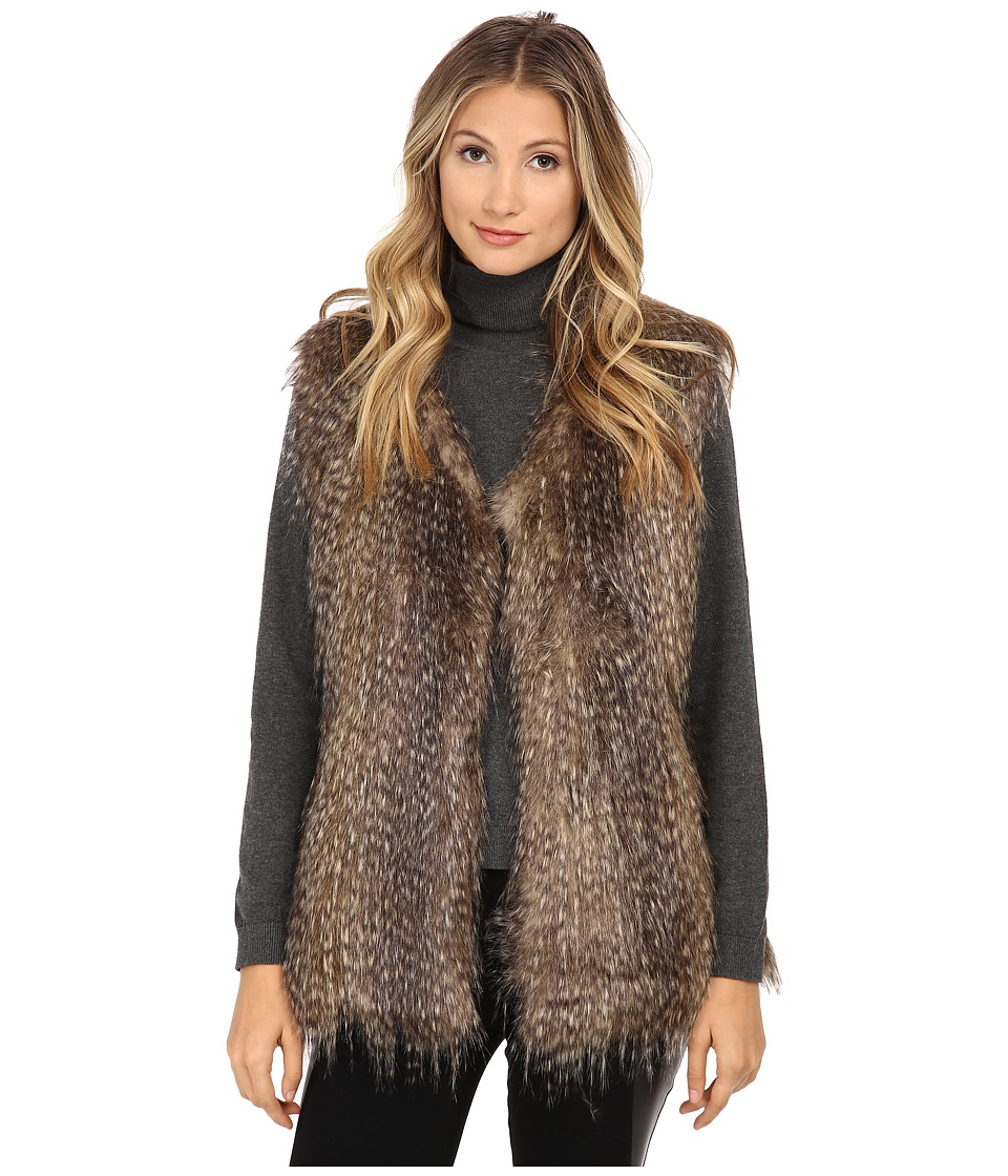 Via Spiga - Collarless Vest (Multi Raccoon) Women's Vest
