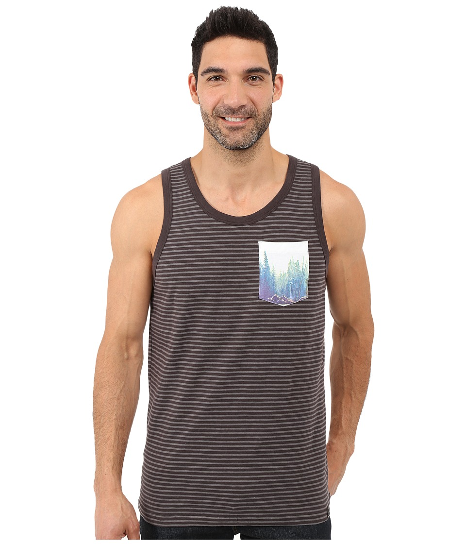 Prana - Shuffle Tank Top (Charcoal) Men's Sleeveless