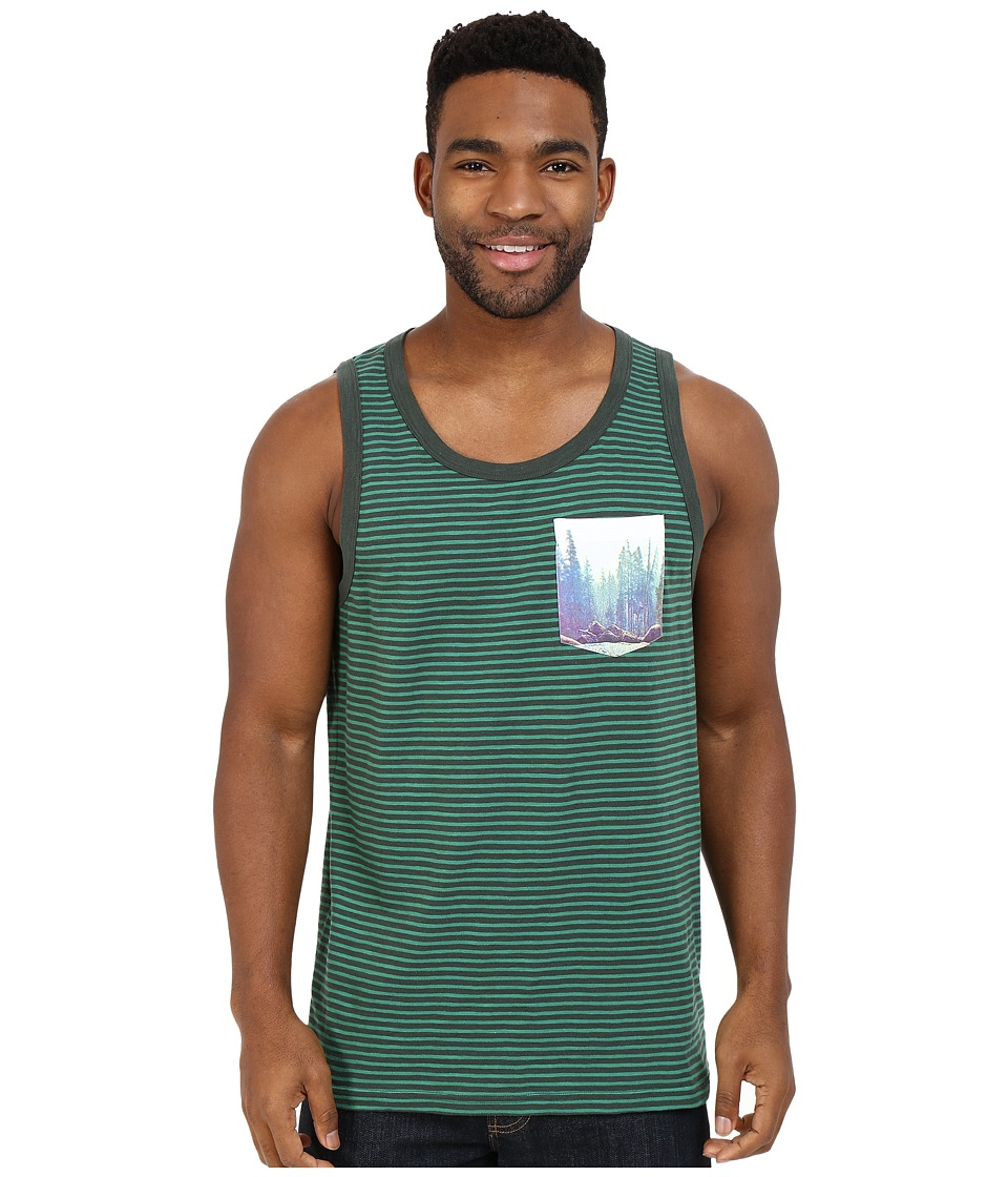 Prana - Shuffle Tank Top (Evergreen) Men's Sleeveless