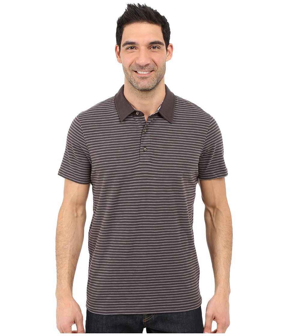 Prana - Shuffle Polo (Charcoal) Men's Short Sleeve Button Up