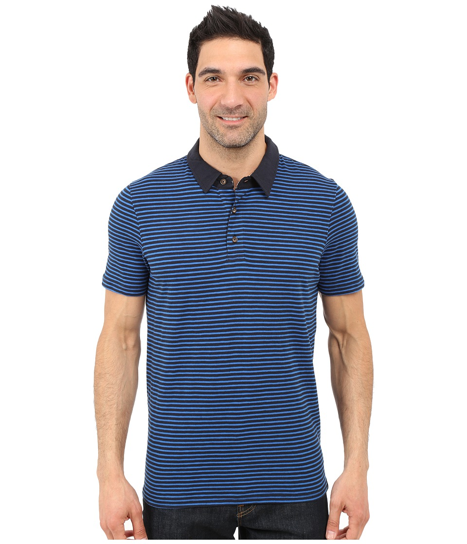 Prana - Shuffle Polo (Nautical) Men's Short Sleeve Button Up