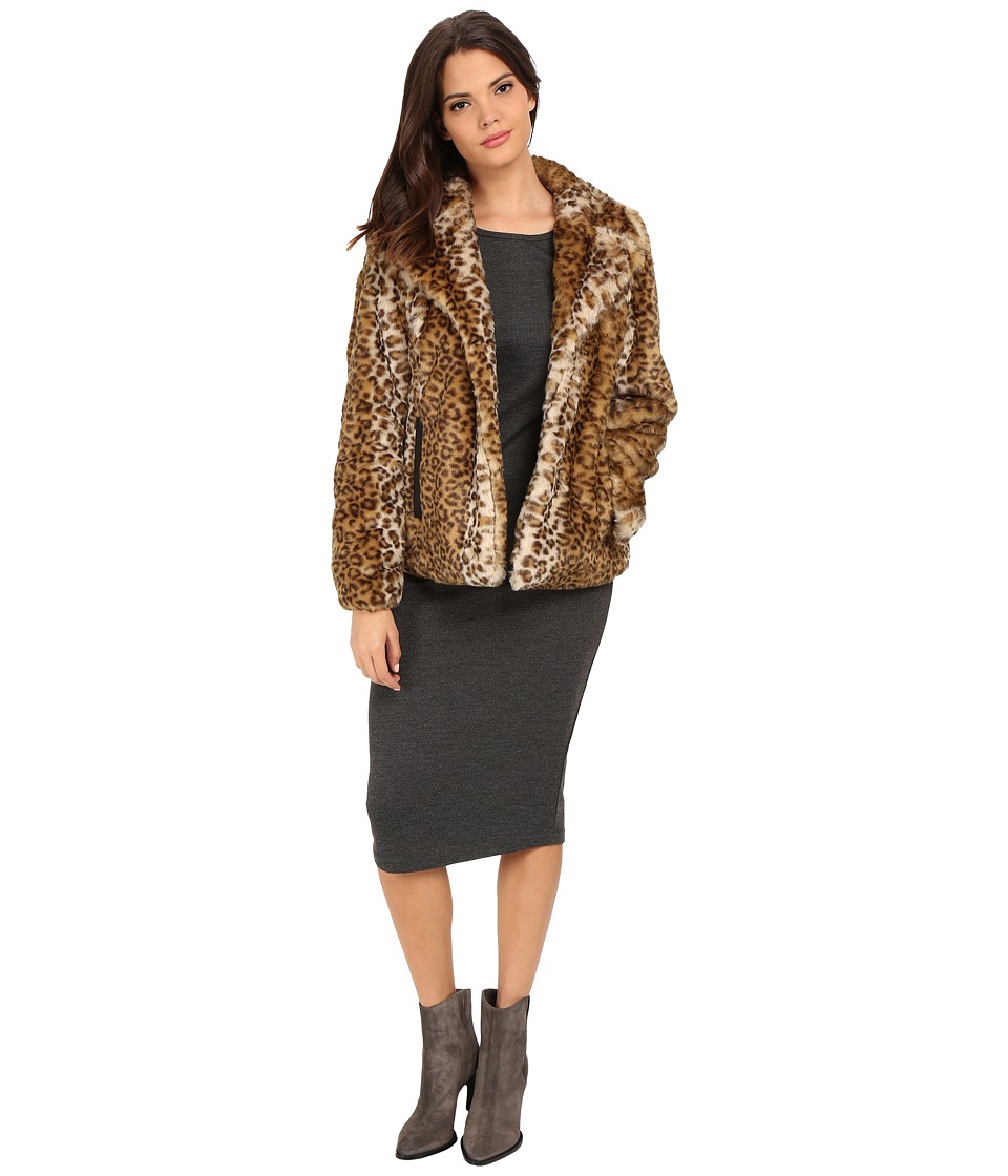 Via Spiga - Faux Fur Jacket (Leopard) Women's Coat