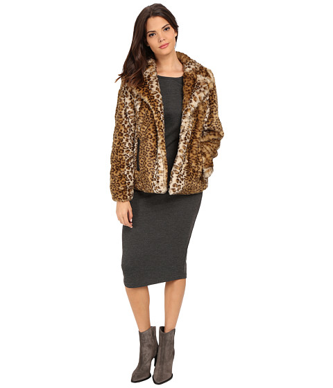 Via Spiga - Faux Fur Jacket (Leopard) Women