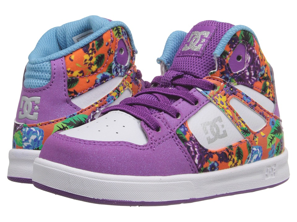 DC Kids - Rebound SE UL (Toddler) (Purple Rain) Girls Shoes
