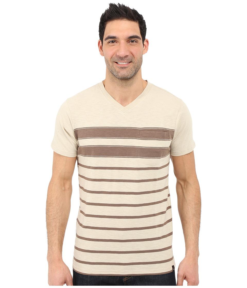 Prana - Breyson V-Neck Tee (Stone) Men's Short Sleeve Pullover