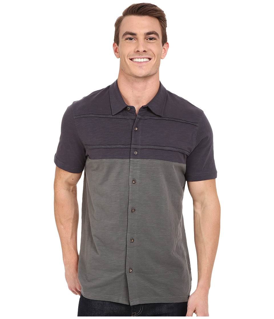 Prana - Keylyn Button Front (Gravel) Men's Short Sleeve Button Up
