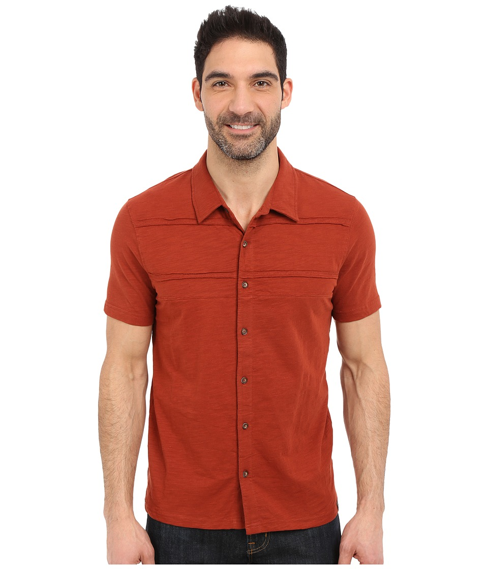 Prana - Keylyn Button Front (Henna) Men's Short Sleeve Button Up