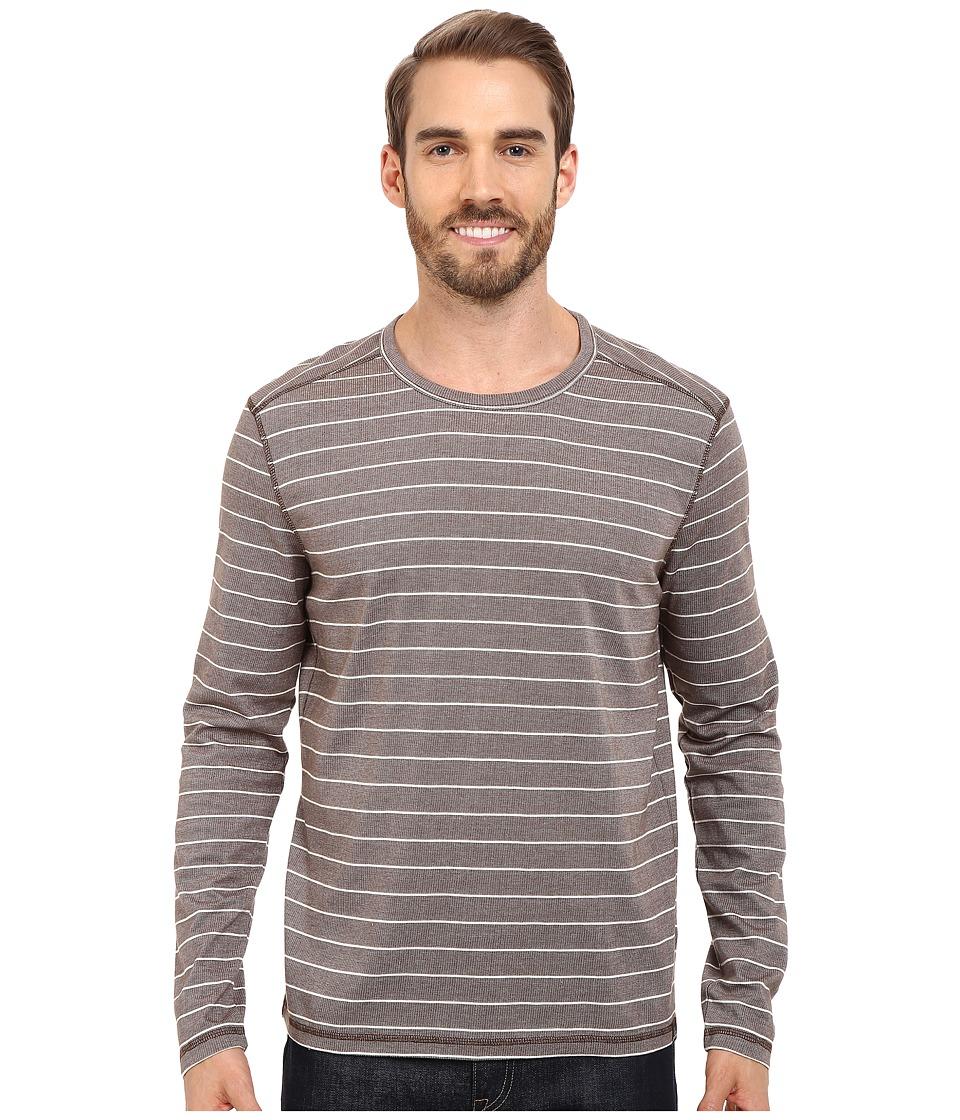 Prana - Keller L/S Crew (Khaki) Men's Long Sleeve Pullover
