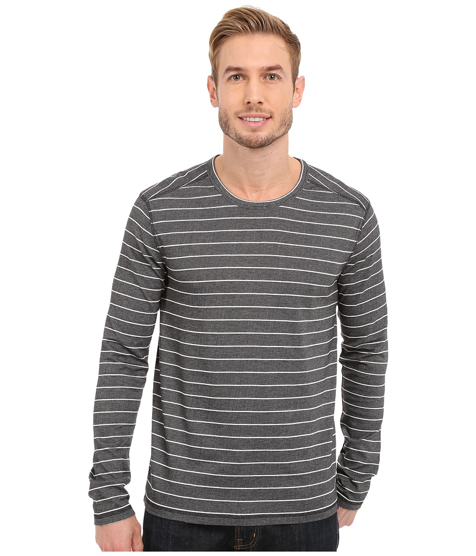Prana - Keller L/S Crew (Black) Men's Long Sleeve Pullover
