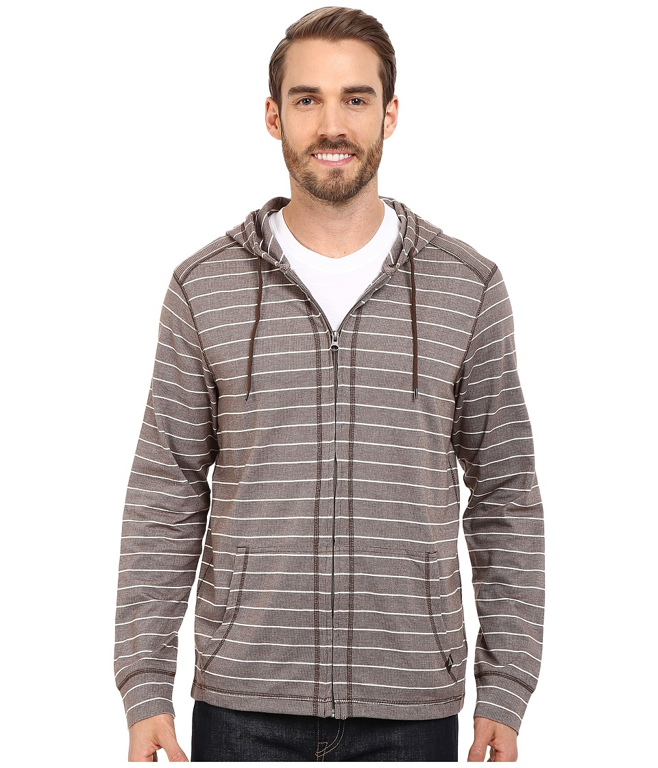 Prana Keller Full Zip Hoodie Khaki Mens Sweatshirt