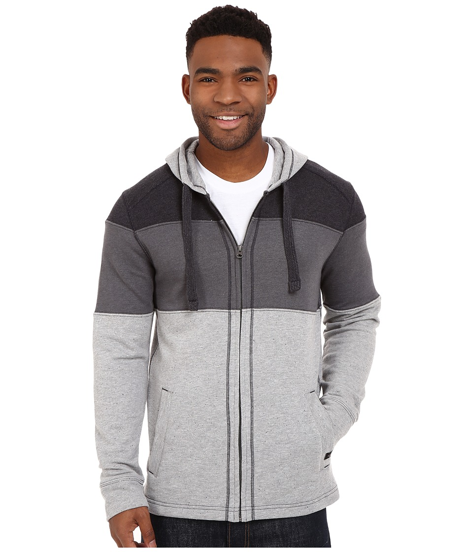 Prana - Jax Full Zip (Gravel) Men's Sweatshirt
