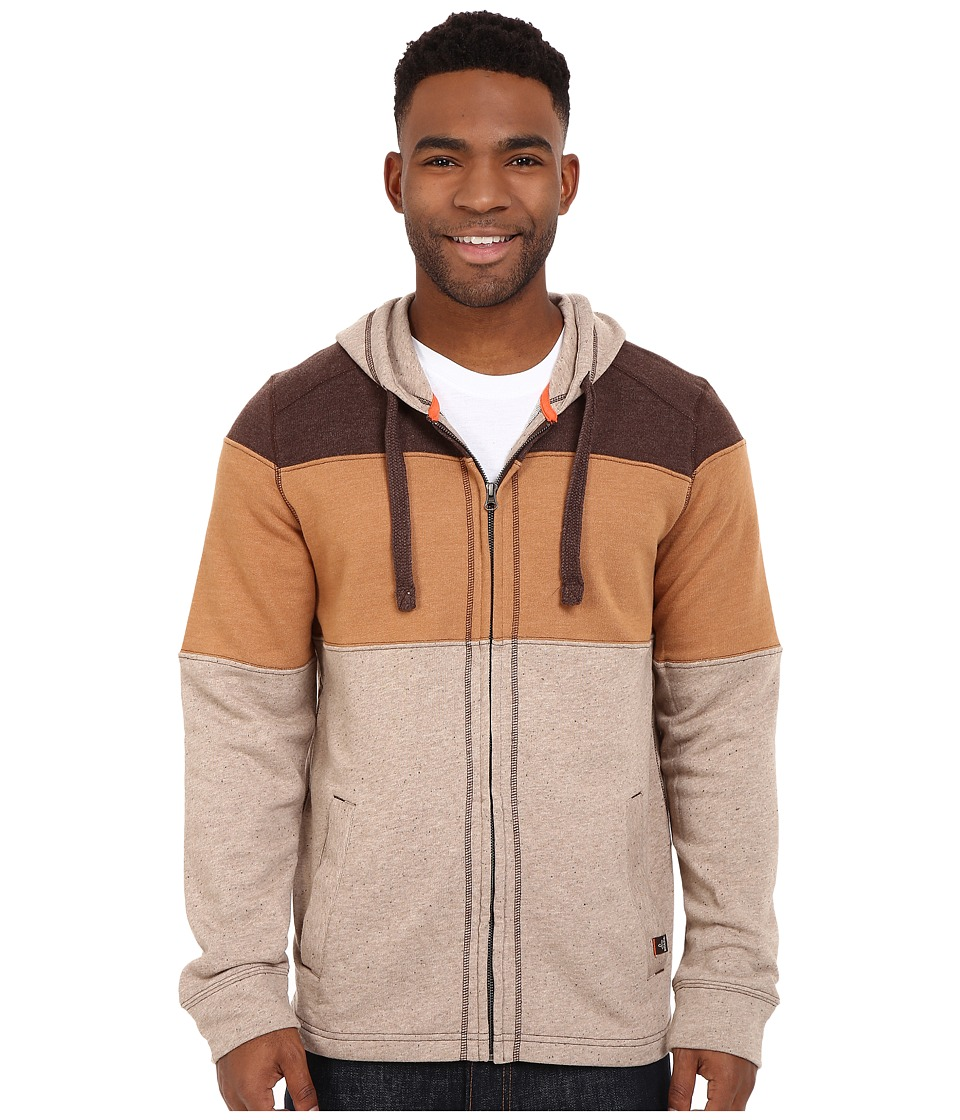 Prana - Jax Full Zip (Mud) Men's Sweatshirt