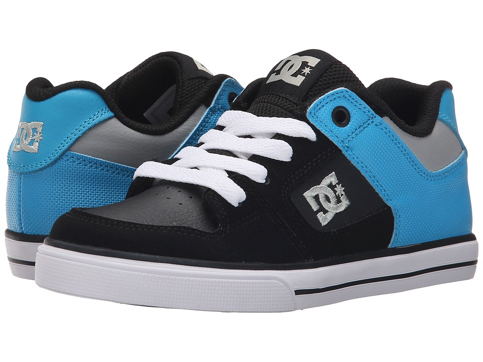 DC Kids - Pure (Little Kid) (Black/Bright Royal) Boys Shoes