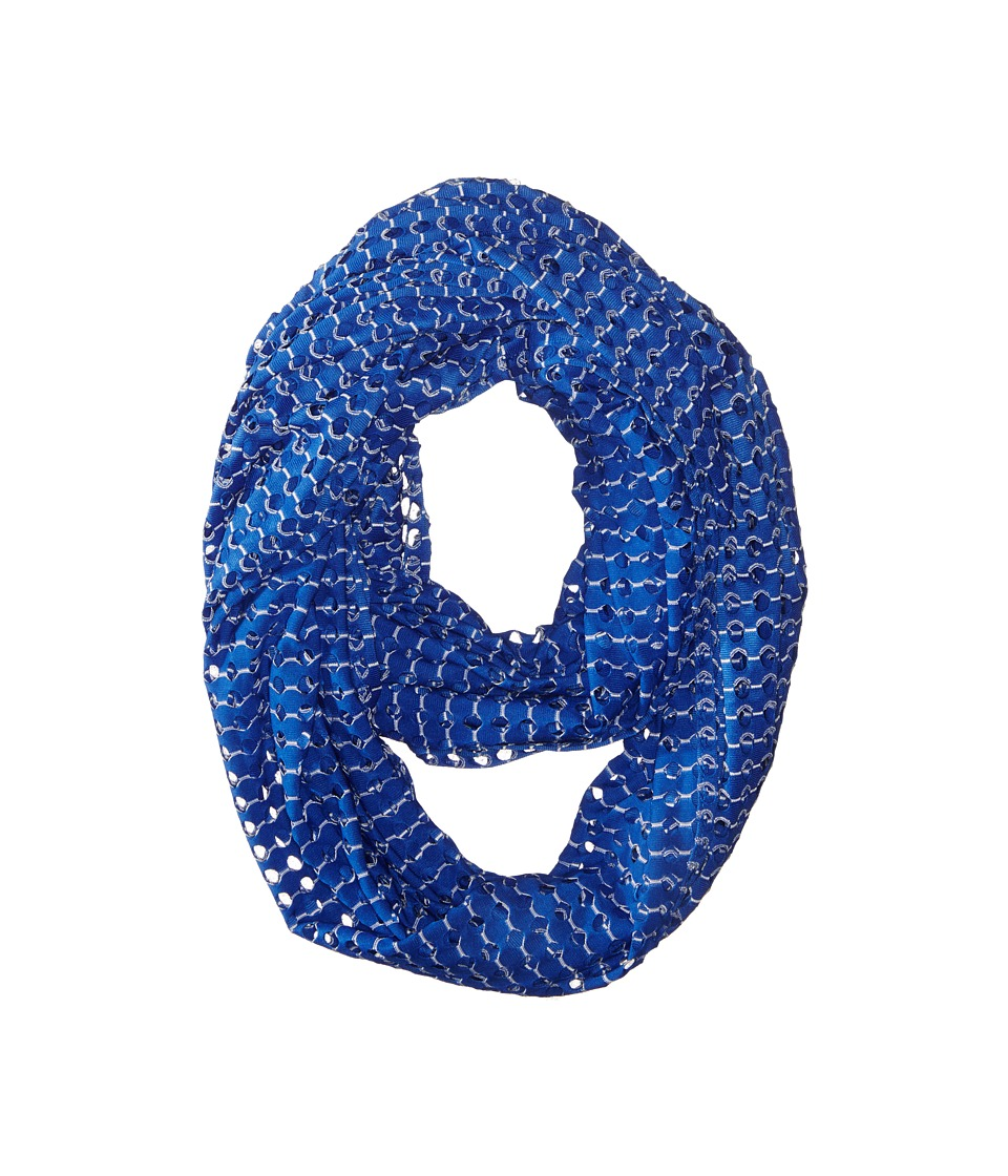 Steve Madden - Hole Punched Infinity Scarf (Royal) Scarves