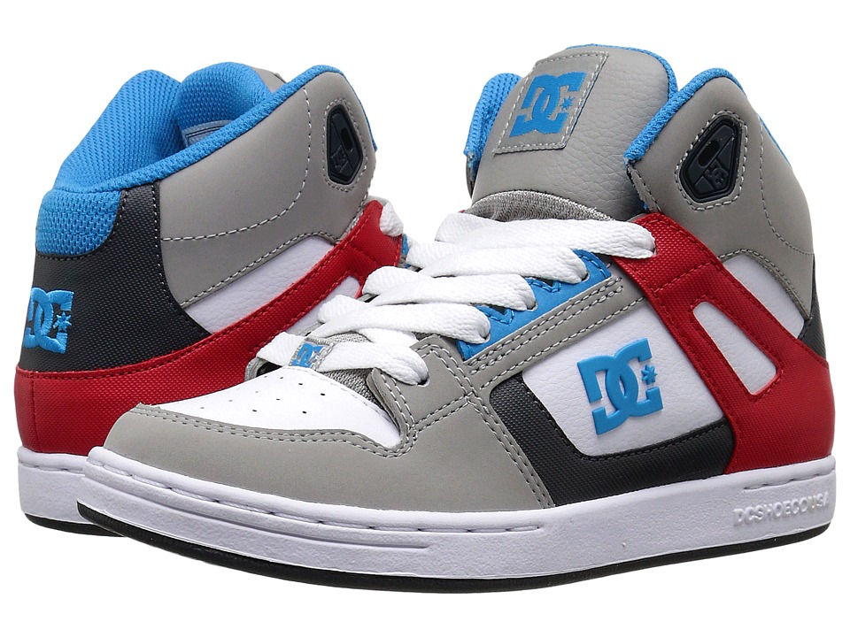 DC Kids - Rebound (Big Kid) (Grey/Grey/Red) Boys Shoes