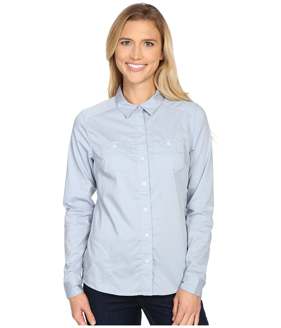 Toad&Co - Panoramic Long Sleeve Shirt (Weathered Blue Stripe) Women's Long Sleeve Button Up
