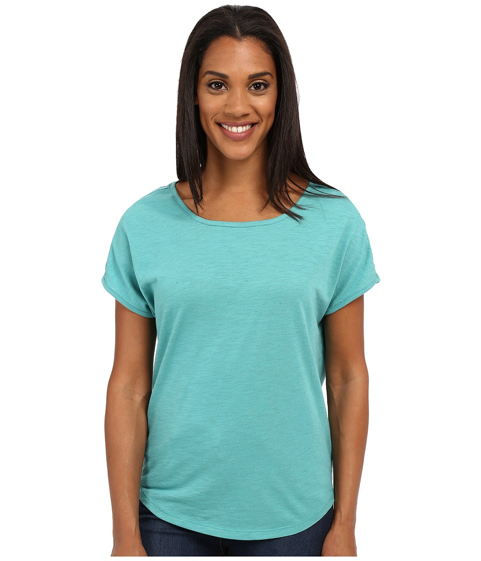 Toad&Co - Palmilla Cap Tee (Dark Turquoise) Women's Short Sleeve Pullover