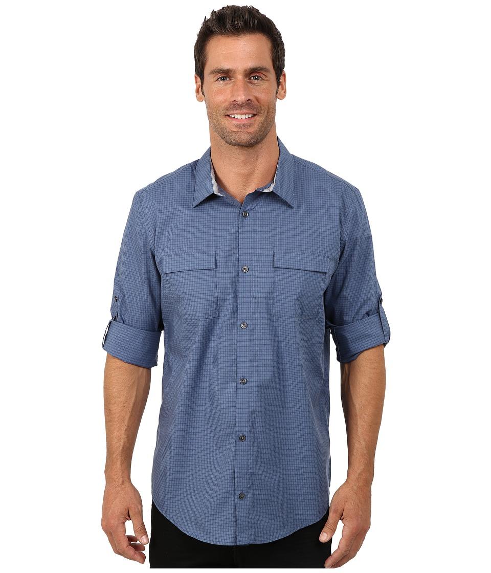 Calvin Klein - End on End Dobby Grid Woven Shirt (Blue) Men