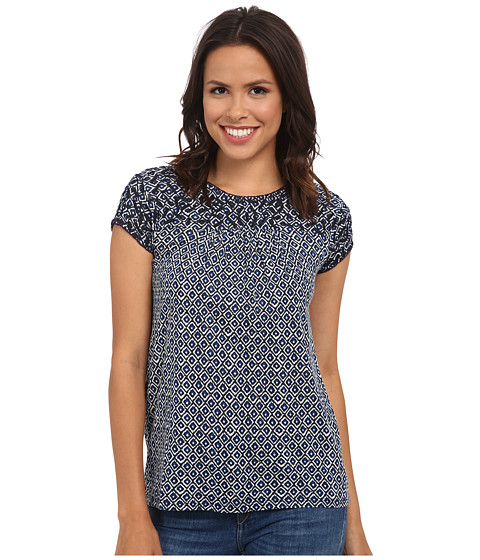 Lucky Brand - Blue Diamond Top (Blue Multi) Women's Clothing