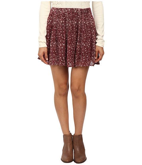 Lucky Brand - Printed Mini Skirt (Red Multi) Women