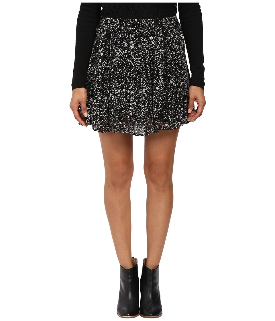 Lucky Brand Printed Mini Skirt (Black Multi) Women