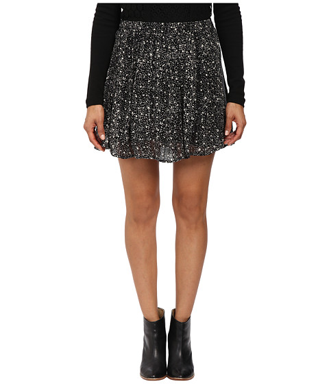 Lucky Brand - Printed Mini Skirt (Black Multi) Women