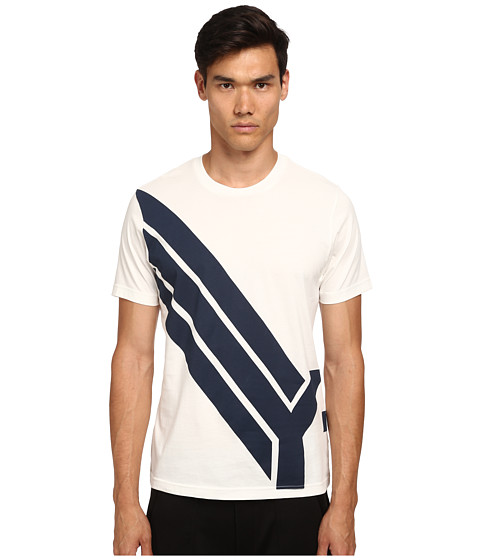 adidas Y-3 by Yohji Yamamoto - Flight Short Sleeve T-Shirt (Core White) Men's T Shirt