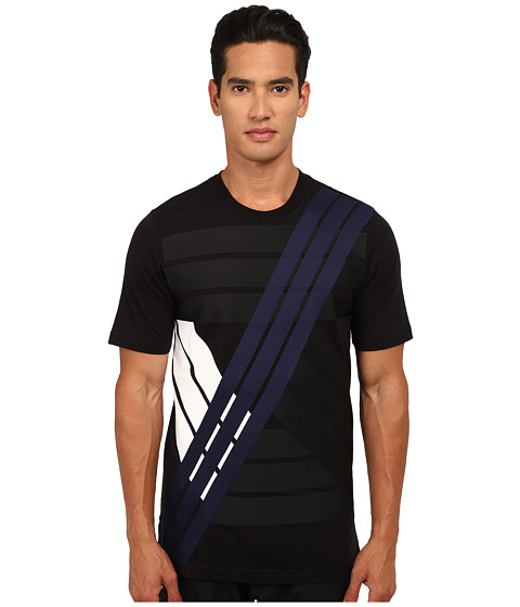 adidas Y-3 by Yohji Yamamoto - Multistripe T-Shirt (Black) Men's T Shirt
