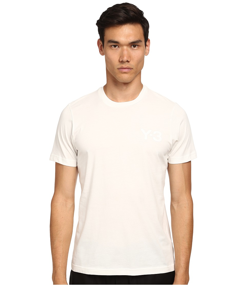 adidas Y-3 by Yohji Yamamoto - Classic Short Sleeve T-Shirt (Core White) Men's T Shirt