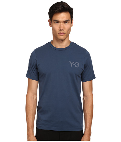 adidas Y-3 by Yohji Yamamoto - Classic Short Sleeve T-Shirt (Sub Blue) Men