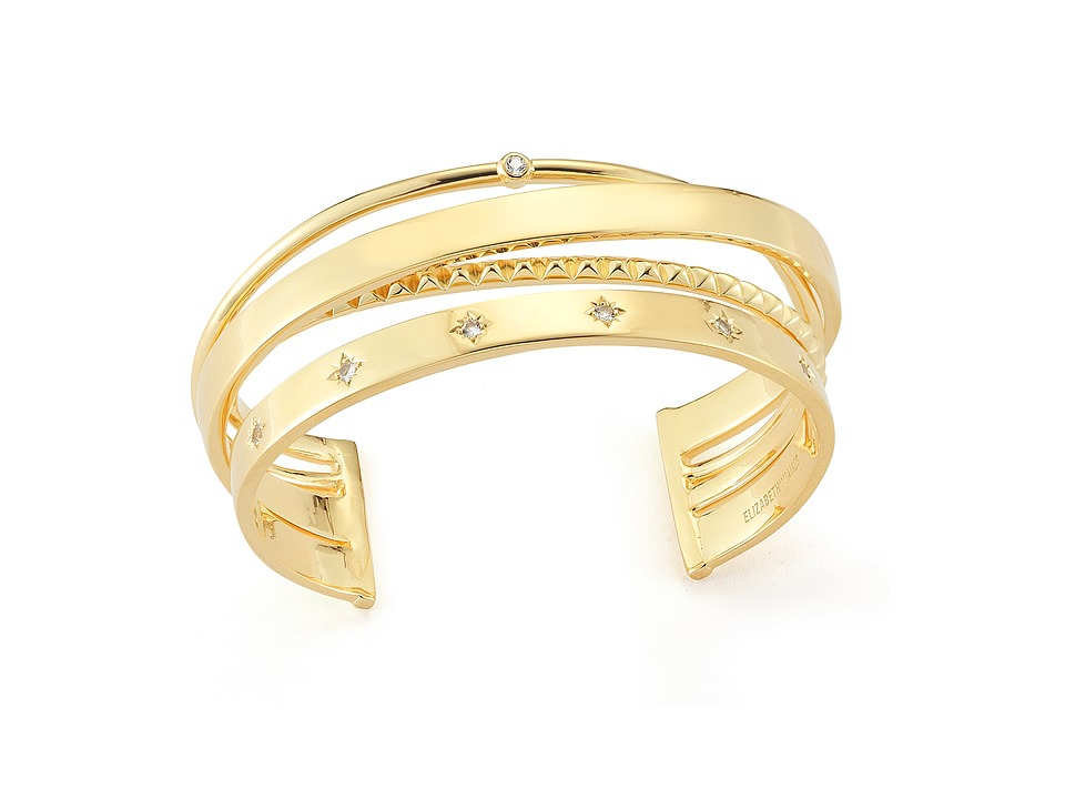 Elizabeth and James - Cosmic Cuff Bracelet (Yellow Gold) Bracelet
